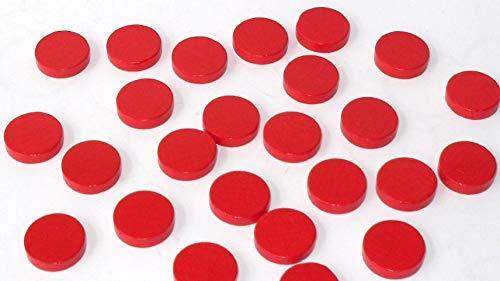 G&S 100 Spielchips , Roulette Spielmarken , Zählchips aus Holz , rot , 15mm x 4mm