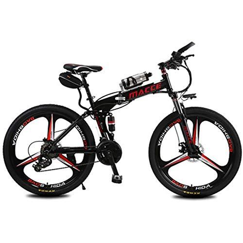 PLAYH Bicicleta De Montaña Plegable, Bicicleta Eléctrica para Adultos De 26 Pulgadas, 36 V / 8 Ah con Iones De Litio Extraíbles, 3 Modos De Montaje En Bicicleta