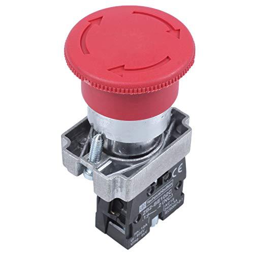 Didad 22mm NC Roja seta Interruptor de pulsador de parada de emergencia 600V 10A
