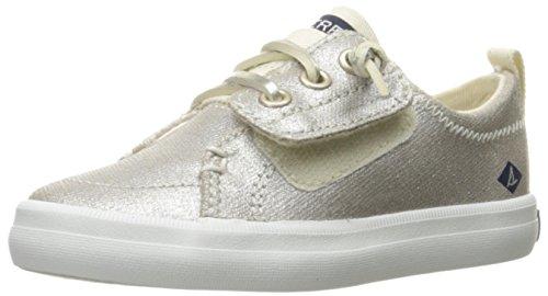 Sperry Girls' Crest Vibe JR Sneaker, Metallic, 9 Medium US Toddler