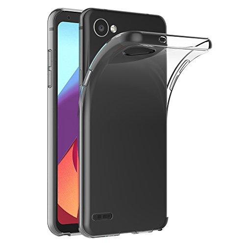 AICEK Cover LG Q6, Cover LG Q6 Silicone Case Molle di TPU Trasparente Sottile Custodia per LG Q6 (5.5 Pollici)