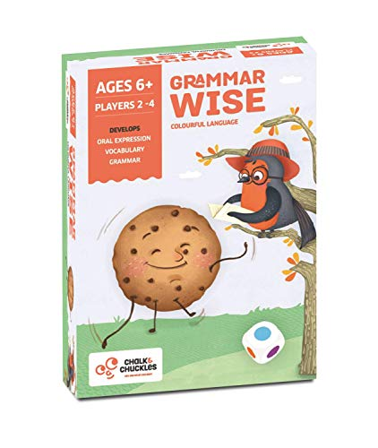 Chalk and Chuckles Grammar Wise  Educational Game for Classrooms and Home Colorful and Fun Language Game Learn Parts of Speech Ages 6 to 9 Years Old