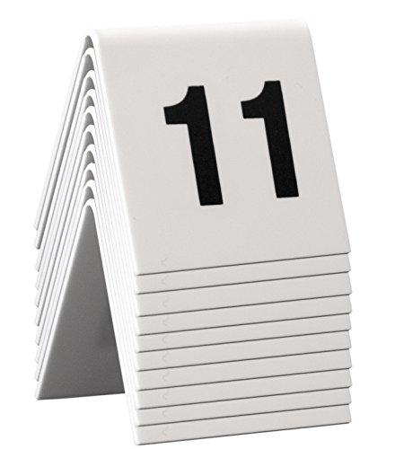 Securit–Mesa de carteles, números 11–20, 4x 4x 5cm (TN–11–20)