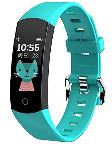 Schrittzähler Kinder Smartwatch Fitness Tracker Kinder Uhren für Jungs Fitnessuhr Kinderuhr Junge Mädchen Teenager Pulsuhr Blutdruck Kalorien Schlafmonitor Wecker Wasserdicht Sportuhr für Android iOS