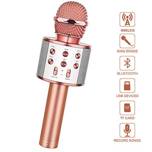 LetsGO toyz Mikrofon Kinder, Geschenke für Kinder Spielzeug Jungen 4-12 Jahre Kinder Spielzeug ab 5-12 Jahren für Jungen Mädchen Bluetooth Mikrofon Weihnachts Geschenke für Kinder