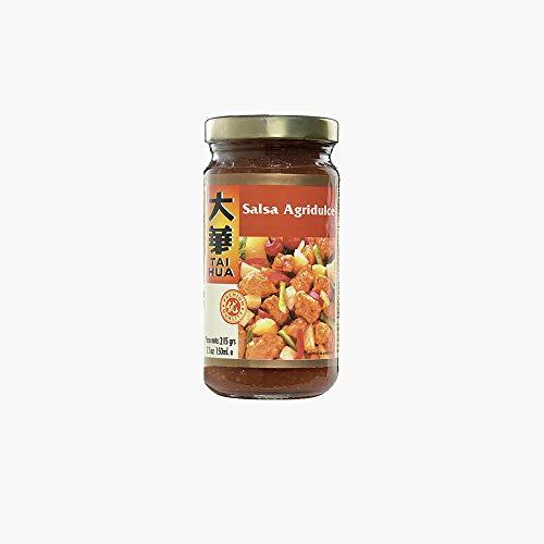 Tai Hua - Salsa agrodolce - Consigliata per cucinare carne di maiale o altre carni - Autentica ricetta orientale 215 grammi
