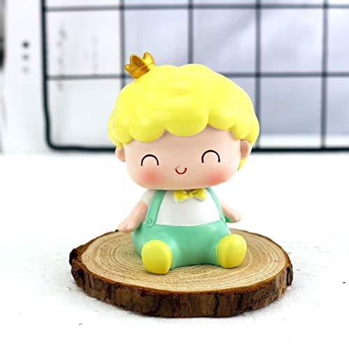 SMchwbc Cartoon-Figur, Figuren Resin Prinz Prinzessin Modell Miniatur Hot Toys Geschenke Crafts Kuchen-Backen-Supplies Schreibtisch-Auto-Dekoration (Color : Little Prince)