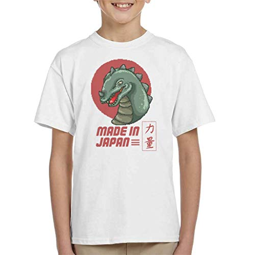 Made in Japan Godzilla Pixel Art Kid's T-shirt