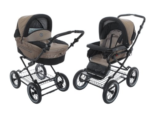 Baby Stroller for Infant Newborn and Toddler Roan Rocco Pram Stroller 2-in-1 with Bassinet,...