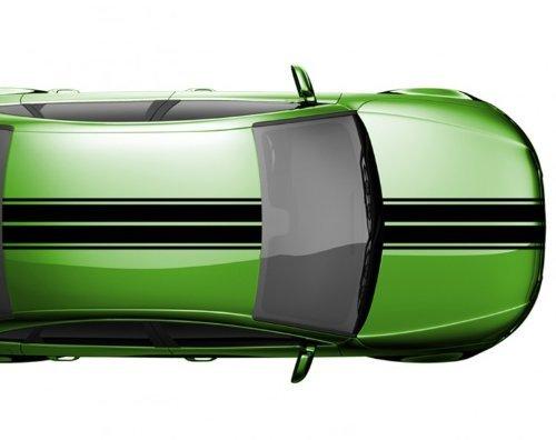 myDruck-Store 2N005 Strisce Viper 28 x 500 cm da Rally Adesivi Auto Viper - Nero Lucido