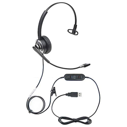 Executive Communication Systems Professionele Wordcommander USB Voice Recognition Headset met Noise Cancellation Microfoon Sprach verbetering in tekst nauwkeurigheid tijdens het dicteren