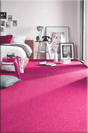 RugsX Einfarbiger Teppich Eton für Zimmer, Wohnzimmer, Schlafzimmer, Teppichboden Auslegware, rosa, Verschiedene Größen, 400x600 cm