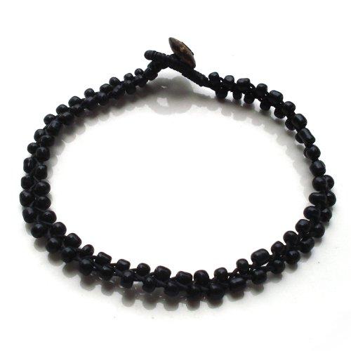Idin Jewellery - fatti a mano di perline cavigliera nero