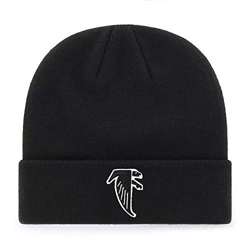 47 Brand Black Cuff Beanie Mütze – NFL Cuffed Football Winter Strick Toque Cap, Herren, Atlanta Falcons