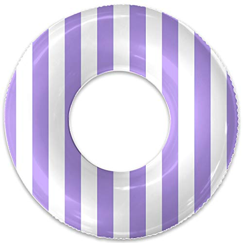 Float Naked | Pool Tubes with Fun Prints | Celebrity-Approved Tubes for Floating | Fun Swim Floaties for Adults | Great Inner Tube Pool Floaty for All Ages (Lavender Stripe)