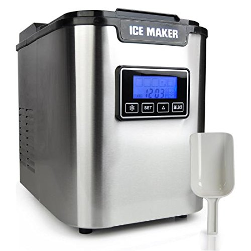Portable Digital Ice Maker Machine  Stainless Steel Stain Resistant   Countertop Ice...