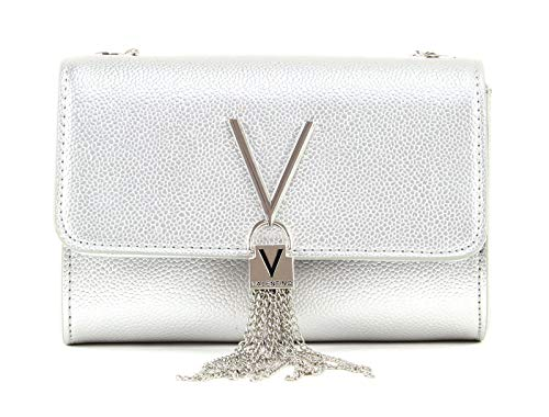 Mario Valentino Valentino by Damen Divina Clutch, Silber (Argento), 4x11.5x17 cm