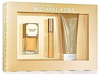 Michael Kors Sexy Amber Fragrance Gift Set for Women 3 piece  EDP Spray 1fl.oz EDP Rollerball 0.34fl.oz Body Lotion 3.4fl.oz.in Deluxe Box