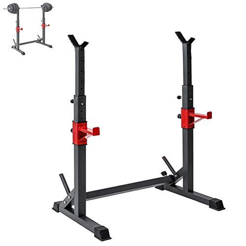 Grist CC Squat Rack Haltérophilie Support, Multifonctionnel Ménage Barbell Support, Équipement d'exercice De Fitness