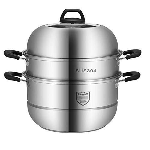 Vaporizador grueso de tres capas de acero inoxidable 304 para cocina de inducción doméstica de 30 cm