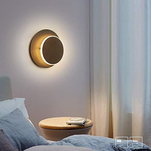 WarmHome Lámpara De Pared De Luz De La Luna Giratoria Dormitorio Cama Minimalista Pared del Fondo De La TV Sala De Estar Moderna