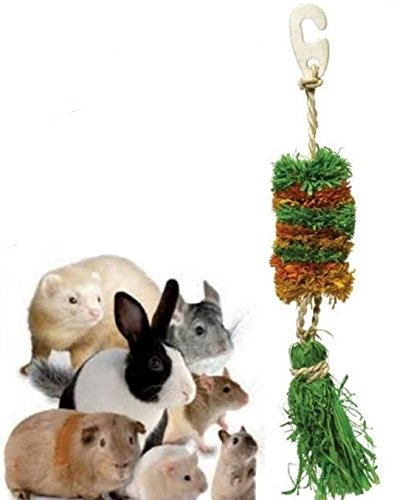 Rose-Wood Salsa Hula Sisal Garland Gnaw Nibble Treat Toy Rabbits, Guinea Pigs, Hamster