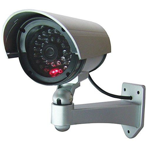 Sicherheit von Außen Attrappe Dummy Kamera, 30imitierte LEDs mit blinkendem IR, professionelles Infrarot-Design, CCTV MWS