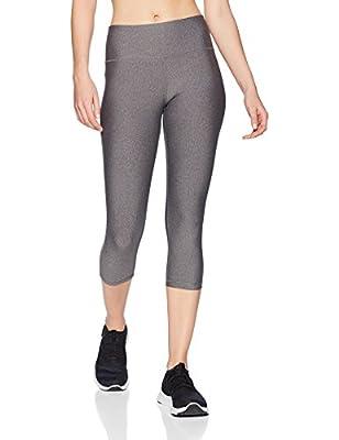 Amazon Essentials Women's Performance Mid-Rise Capri Active Legging, Charcoal Heather, Small