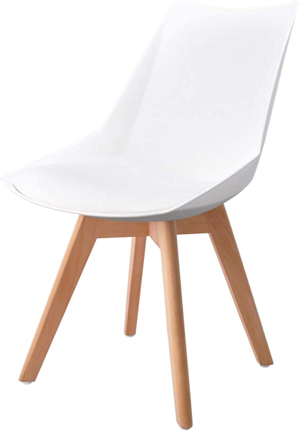 Solid Wood Dining Chair Modern Minimalist Dining Table and Chair Back Home Stool Study Office Leisure Chair Plastic Chair Multicolor (color   White, Size   B)
