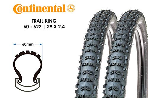 2 Stück 29 Zoll Continental Trail King Fahrrad Reifen 29x2.40 MTB 60-622 Tire schwarz