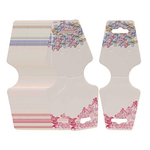 Bonarty 100 x Collar plegable pendientes de papel Display Tag para colgar paquete perforado – H
