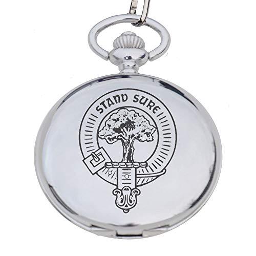 Taschenuhr aus Zinn mit Maclaren-Clan-Wappen