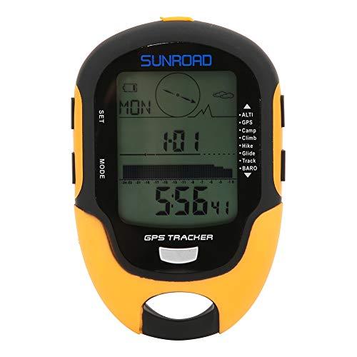 Esenlong Altímetro electrónico GPS,Altímetro multifunción barómetro,FR510 Compass LCD Digital Termómetro Relojes-higrómetro Pronóstico del tiempo Mano Senderismo Linterna Altímetro