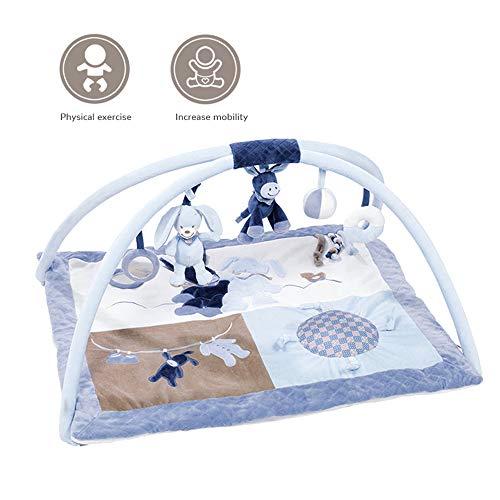 Baby Play Gym Activity Mat, Pasgeboren Activity Gym Met 5 Hangende Educatief Speelgoed Oefening Baby Ledematen Hoorvermogen