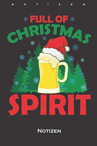 ugly XMas mit Bier unter Tannen Christmas Spirit Notizbuch: Liniertes Notizbuch für alle die das Fest der Liebe mögen