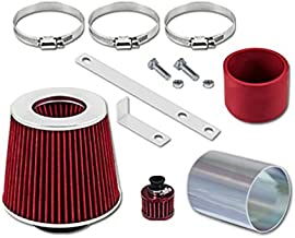 Velocity Concepts Red Short Ram Air Intake Kit + Filter Compatible with 92-98 Golf Jetta Passat Corrado 2.8 VR6