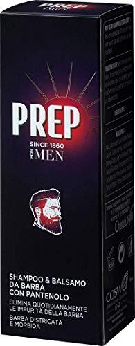 Prep, Shampoo e Balsamo da Barba, Shampoo Barba Uomo, Balsamo Barba, con Pantenolo e Glicerina, Idratante, per Barba Lunga, Confezione da 100 ml
