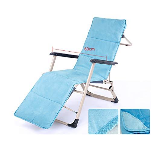 Chaise longue pliante Pause déjeuner Chaise de plage Cool Balcon Chaise Siesta Bed Bureau Dos Lazy Chair Lit pliant Extra épais Square Renfort de tube (Couleur : Square tube)