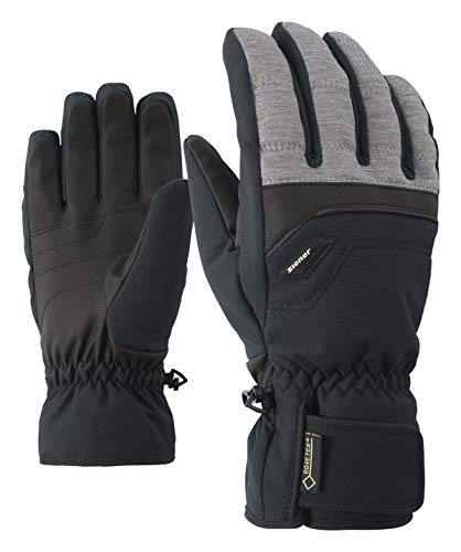 Ziener Herren Glyn GTX Gore Plus Warm Glove Alpine Ski-handschuhe, grau (dark melange), 8