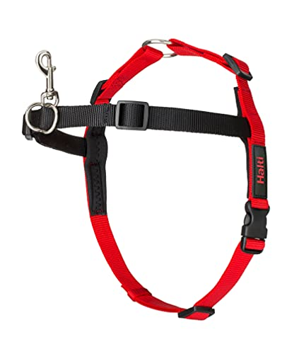 The Company Of Animals Halti Harness for Dogs, Large, Black/Red