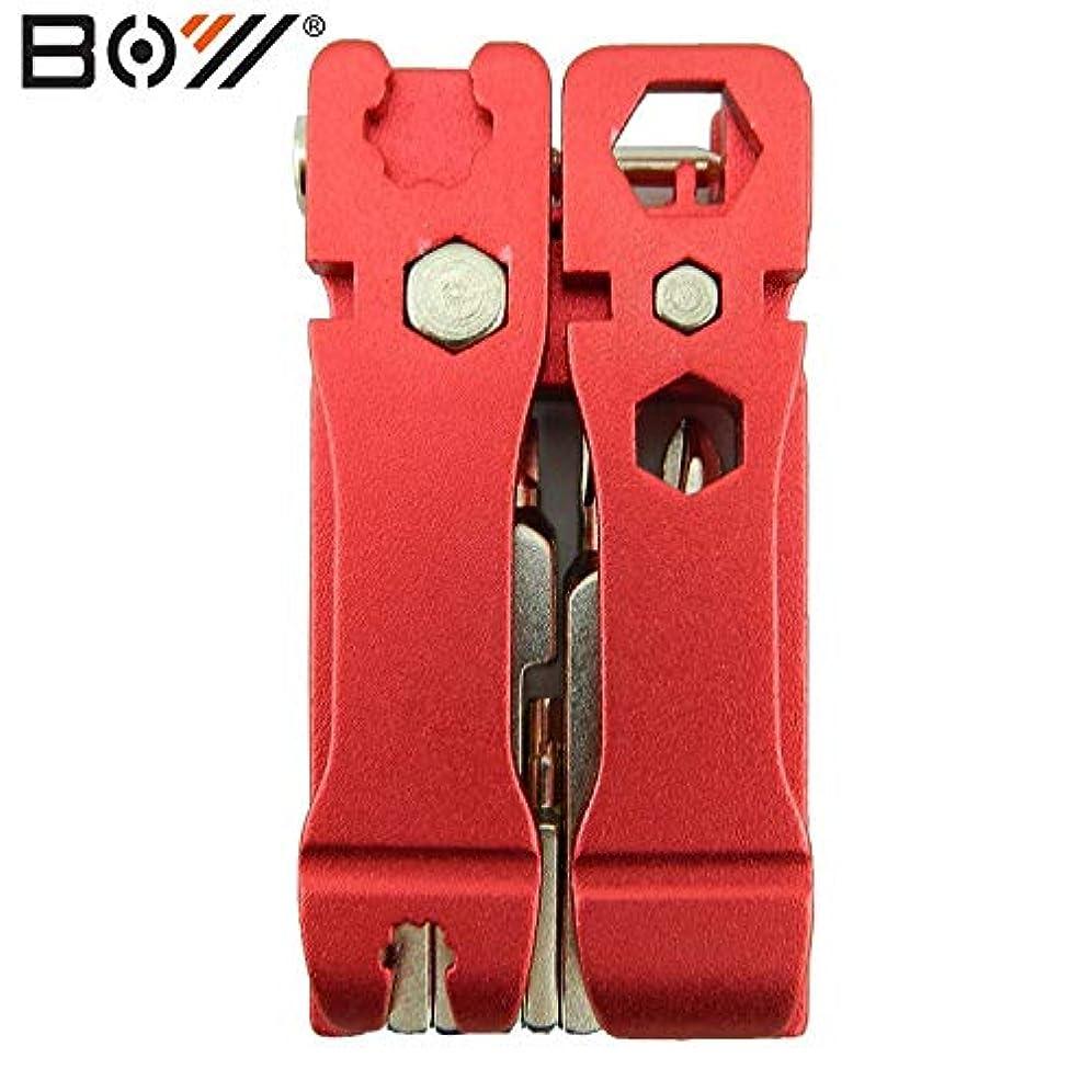 電話調整可能を除くPropenary - 自転車多機能ツール高品質19 1つの六角ドライバーWrenc hBikeツールでマルチ修復ツールキットセットパーツ[赤]