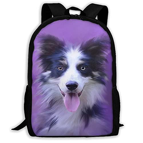 Mochila de viaje con diseño de bozal para perro, portátil, capacidad ligera, para papelería, para niñas, niños, escuela, mujeres, hombres, oficina