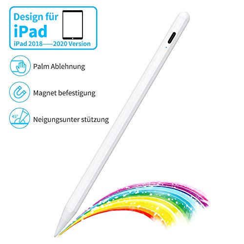 Kingone Stylus Pen für iPad 2018-2020 iPad Stift Magnetaufsatz iPad Pen Palm Rejection Pencil Kompatibel mit iPad Pro 11, iPad Pro 12.9, iPad 10.2, iPad Air 3, iPad Mini 5, iPad 6/7