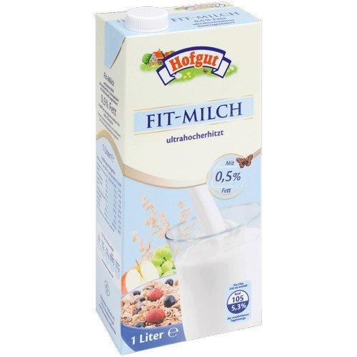 Hofgut haltbare Fit-Milch 0,5% - 12 x 1 Ltr.