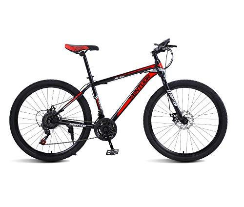 DGAGD Rueda de radios de Bicicleta Ligera de Velocidad Variable de Bicicleta de montaña de 26 Pulgadas-Rojo Negro_veinticuatro