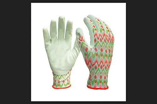 Digz Women's Indoor/Outdoor Latex Coated Gardening Gloves Blue S/M