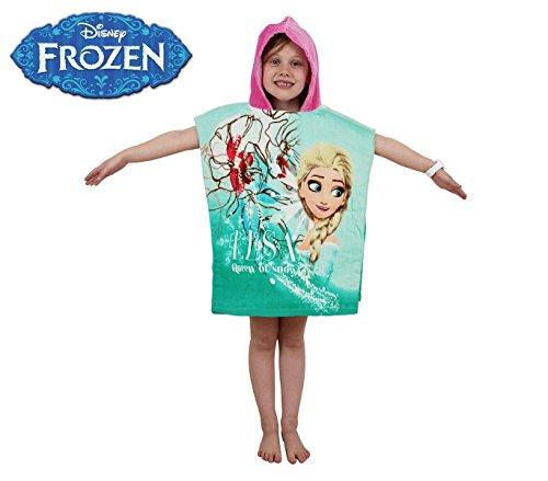 WD16952 Albornoz con capucha de algodón princesa Elsa (