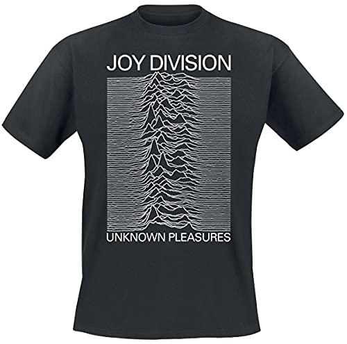 Joy Division Unknown Pleasures Uomo T-Shirt Nero XXL 100% Cotone Regular