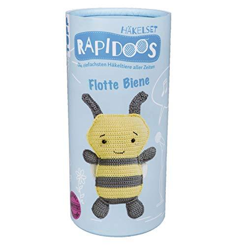 Rapidoos Häkelset Flotte Biene: Die einfachsten Häkeltiere aller Zeiten. Anleitung und Material für eine süße Biene zum Selberhäkeln