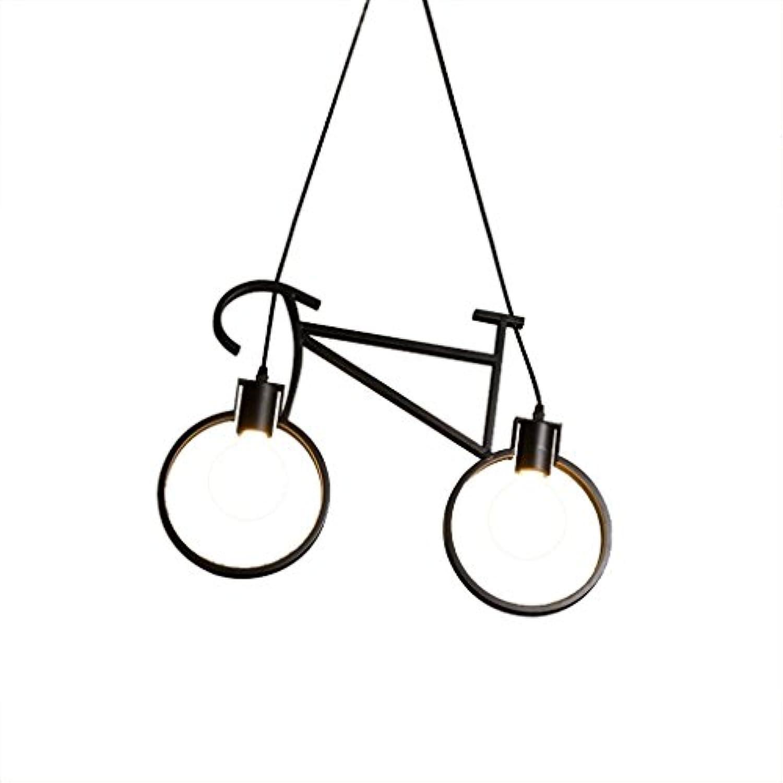 M-zmds Deckenleuchten, moderne Fahrrad Schmiedeeisen Pendelleuchten aus Metall, mit Edison E26   E27 Sockel Kronleuchter für Lager Garage Basement Scheune Anhnger Leuchte (Farbe   schwarz)